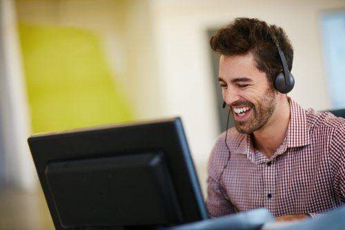 Happy IT worker